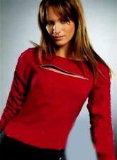 SeXy Miss Langarm Shirt Zipper Dekollete LAURA SCOTT 32 34 NEU rot Raff Arm Top