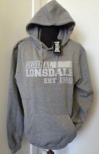 Original Mens Lonsdale Sweatshirt Grey Hoodie Jumper S M XL XXL 113128