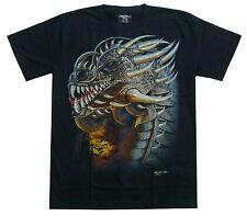 Drachen T-Shirt Tribal Drache,Gr. S, M, L, XL, Fantasy Dragon Dark Gothic