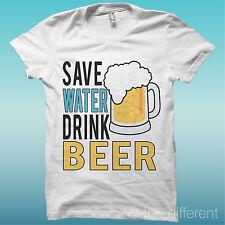 Camiseta de Hombre save Agua Bebida beer cerveza gift idea de