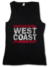 WEST COAST DAMEN TANK TOP Run Fun DMC USA United States New City Band Side East