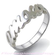 Anello con scritta AMOUR in argento massiccio, love ring firmato Flores
