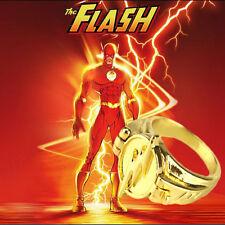 DC Comics The Flash OPEN Cover Lightning Logo Superhero Cosplay Ring