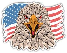 USA Flag Eagle Head Car Bumper Sticker Decal ID: 4 ''SIZES''