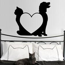 Sticker décoration Animaux Comme Chien et Chat amour, (15x16 cm et 30x32 cm)