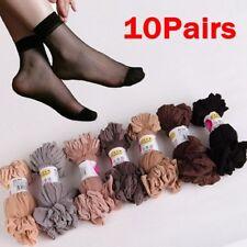 10Pairs Women's Ankle Socks Sexy Ultra-thin Elastic Silky Short Silk Stockings