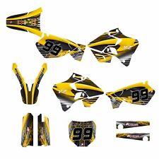 YZ 125 YZ 250 Graphics kit for Yamaha 1996 1997 1998 1999 2000 2001 #3333 Yellow