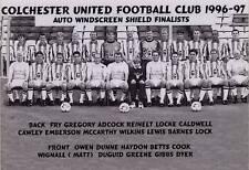 COLCHESTER UNITED FOOTBALL TEAM PHOTO>1996-97 SEASON