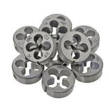4#6#8#10#1/8 5/32 3/16 1/4 5/16 UNC/BSW Round Dies Threading Tools Alloy Steel
