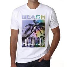 Freshwater West Beach Palm Tshirt, Hommes Tshirt Blanc, Cadeau