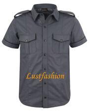 Lederhemd dunkelgrau Hemd Leder neu grau leather shirt dark grey Chemise Cuir