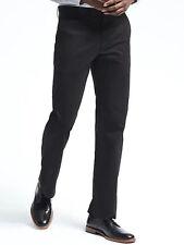 NWT Banana Republic New $69.50 Men Black Dawson Relaxed Chino Size 28X32