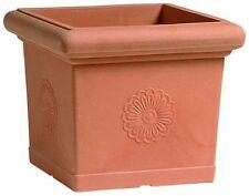 Quadrato decorato vasi vaso in Resina da giardino terrazzo esterno NO PLASTICA