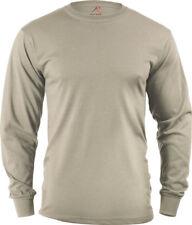 Desert Sand Tactical Long Sleeve 100% Cotton Military T-Shirt