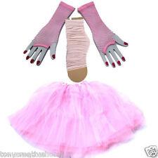 Pink Set 3 Layer TUTU Skirt Gloves Socks Kids/Girl/Lady Dress up Tulle