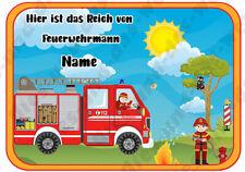 ✿ Feuerwehrman Türschild Deko Feuerwehr ✿ Kinderzimmer ✿ personalisierbar Name ✿