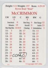 1997-98 APBA #BRMCC Brad McCrimmon Phoenix Coyotes Hockey Card