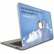Philippians 4:13 Bible Verse Macbook Air or Macbook Pro Skin - FREE SHIPPING