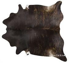 Dark Brindle Brazilian Cowhide Rug Cow Hide Area Rugs Skin