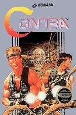RGC Huge Poster - Contra BOX ART Original Nintendo NES - CON001