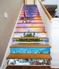 3D Aircraft Sky Stair Risers Decoration Photo Mural Vinyl Decal Wallpaper US