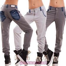 Pantaloni donna tuta cavallo basso harem polsini dettagli jeans sexy nuovi K5802