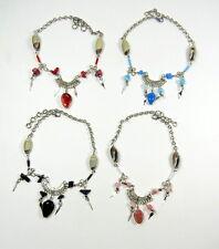 Fußkette Fusskettchen Neusilber Muranoglas Perlen Varianten Neu! Indio Shop