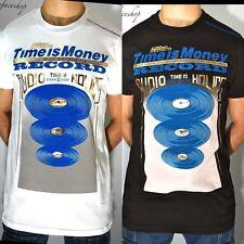 Il tempo è denaro record T SHIRT, supremo hiphop urbano graffiti T, Bling Retro Uomini