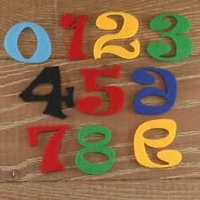 Numéro de police ravie set 3mm feutre numéros 0-9 10 caractères tailles 5-12cm