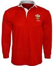 Le Pays de Galles Rugby Shirt Rétro Classique Nouvelle Marque Welsh Toutes Tailles S - 5XL