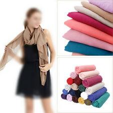 Women Ladies Scarf Plain Cotton Maxi Viscose Scarves Shawl Muslim Hijab Wraps