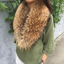New Real Fur Big Collar Fashion Scarf 90cm/100cm 2018 Winter Warm Real Fur 37230
