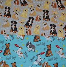 Cuarto gordo azul//FQ 100/% tela de algodón artesanía colcha de Costura Perro Cachorro Mascotas Animales