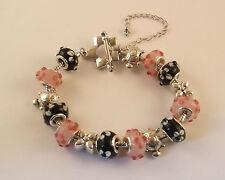 Various Handmade European Style Bracelets With Lampwork & Tibetan Style Beads.