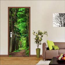 3D Green Tree Nature 41 Door Wall Mural Photo Wall Sticker Decal AJ WALLPAPER CA