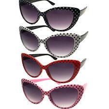 Kids Childrens Girls Sunglasses Cat Eye Polka Dot 50s/60s Retro Vintage Style