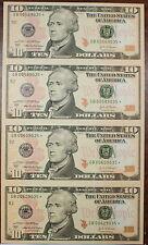 2004-A 4 Subject Uncut $10 Sheet, *GB-Star* Block fw