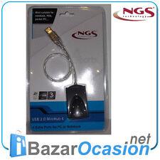 4 Puertos Mini Hub USB 2.0 NGS para PC o Portátil NUEVO