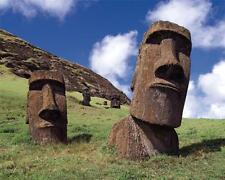 MOAI EASTER ISLAND GLOSSY POSTER PICTURE PHOTO rapa nui rano raraku carved 1976