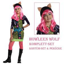 HOWLEEN WOLF KOSTÜM & PERÜCKE Halloween Monster High Katzen Tiger Kinder Kleid