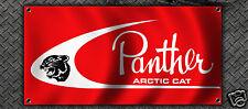VINTAGE SNOWMOBILE ARCTIC CAT PANTHER GARAGE BANNER