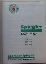 SPIEGLER 1929 350 500 600 AALEN PROSPEKT TOUREN SPORT
