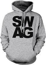 Black SWAG Lyrics Hip Hop Rap Urban Trendy Cool Hoodie Sweatshirt Pullover