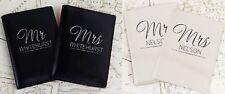 Personalised Leather Passport Holder Mr & Mrs Christmas Wedding Anniversary Gift
