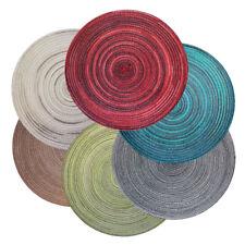 Bast Platzset rund ca. 40 cm Ø waschbar Tischset Untersetzer 6 Farben meliert