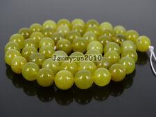 Natural Olive Jade Gemstone Round Loose Spacer Beads 15'' 4mm 6mm 8mm 10mm 12mm