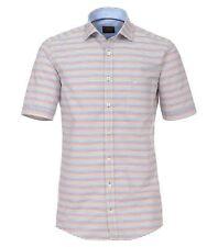 Casa Moda Premium Cotton Comfort Fit Short Sleeve Striped Shirt, Size XXL to 6XL