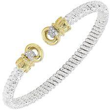 Alwand Vahan Diamond Bracelet 4mm 14K Gold & Silver- Style 22930D04