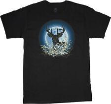 Deer t-shirt for men deer moon hunting nature wildlife mens t-shirt buck deer