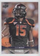 2012 Upper Deck #218 Eddie Whitley Virginia Tech Hokies RC Rookie Football Card